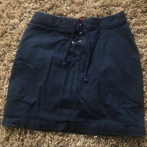 tommy navy blue mini skirt
